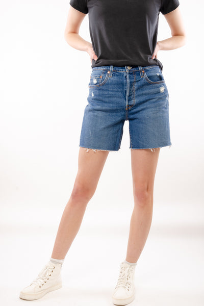 501 Mid Thigh Shorts - MED