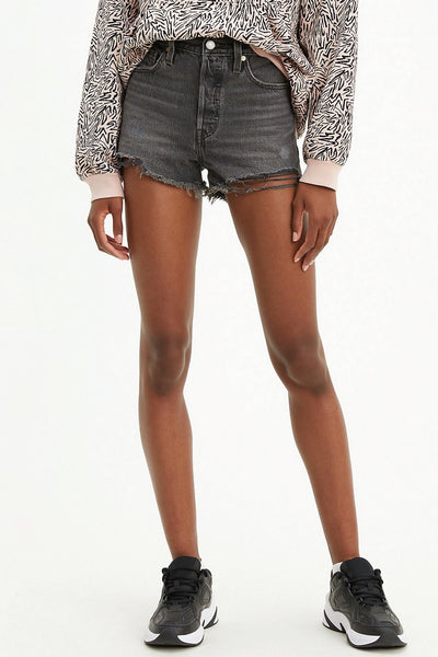 501 High Rise Shorts - BLK
