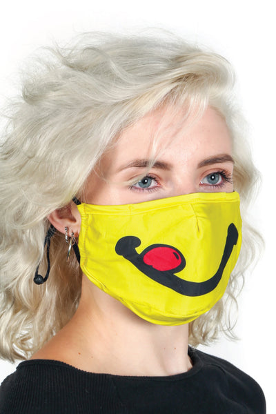 Adult Happy Face Mask - YEL