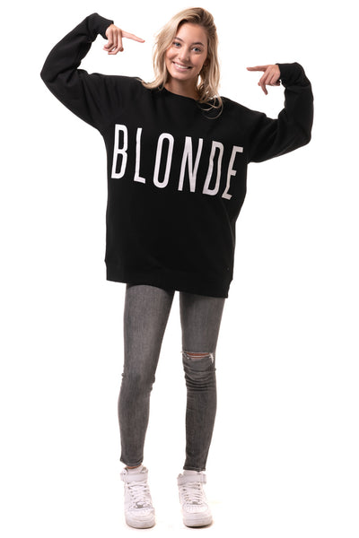 Blonde Big Sister Crew - Black