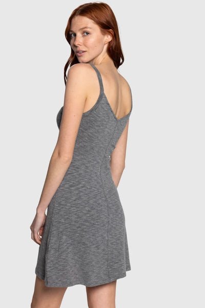 Button Up Tank Dress - GRY