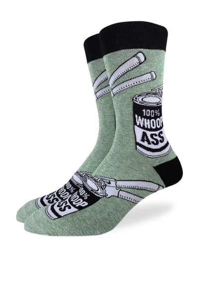 Can of Whoopass Sock - GRN