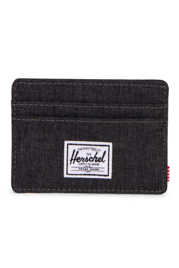 Charlie Wallet - Black Crosshatch