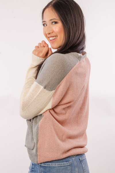 Colourblock Cardigan - LGR