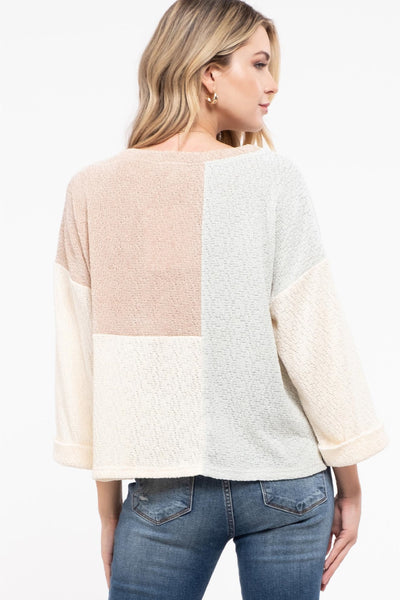 Colourblock Knit Sweater - MUL