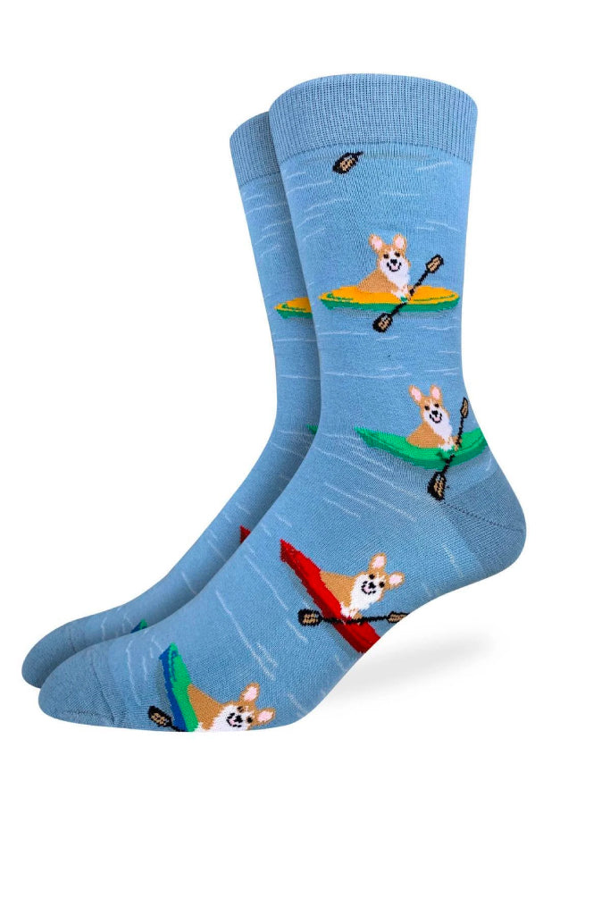 Corgi Kayaking Sock - BLU