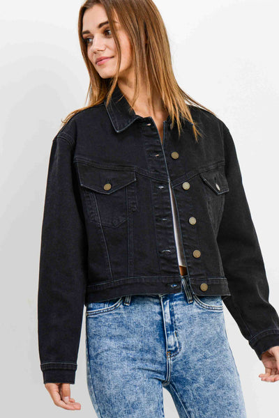 Cropped Vintage Denim Jacket - WBK
