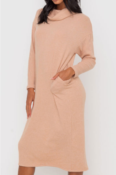 Cynthia Cowl Neck Dress - APR