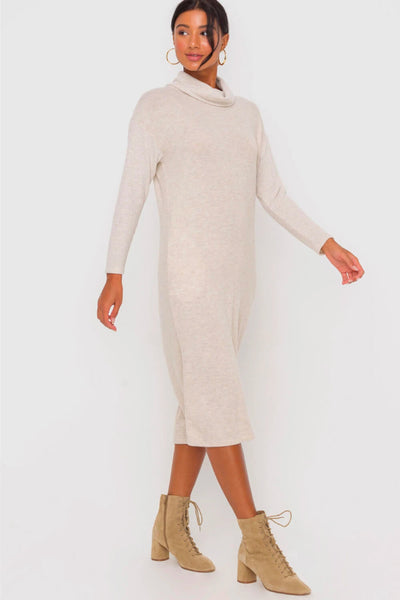 Cynthia Cowl Neck Dress - OAT
