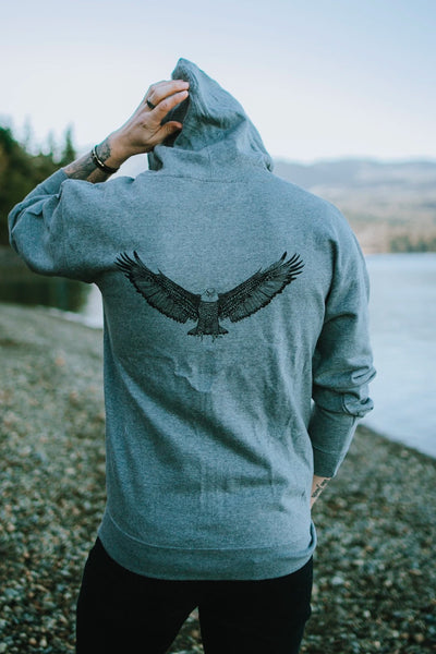 Eagle Zip Up Hoodie - HGR