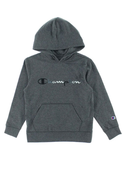 Embroidered Hoodie - GRY