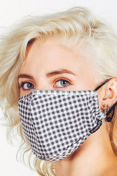 Gingham Face Mask - BLK