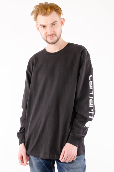 Signature Logo Long Sleeve - BLK