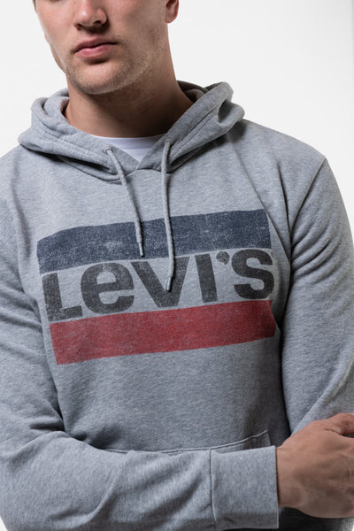 Graphic Pullover Hoodie - GRY