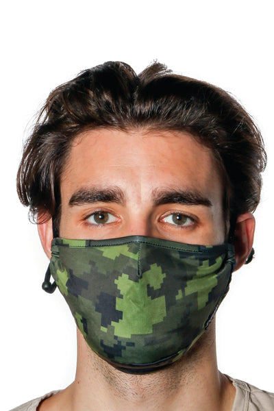 Green Camo Face Mask - GRN
