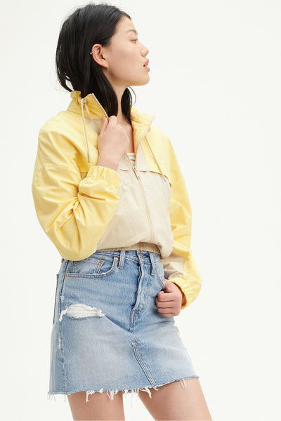 High Rise Deconstructed Denim Skirt - LTHWSH