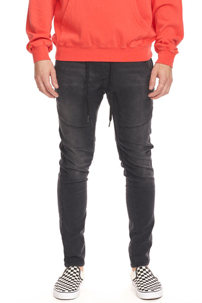 Knit Denim Jogger - BLK