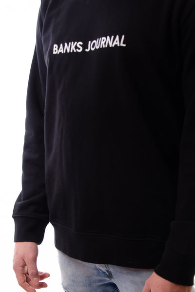 Label Graphic Crew - BLK