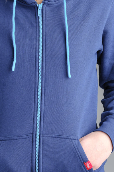 Ladies 22Fresh Zip Hoodie - NVY