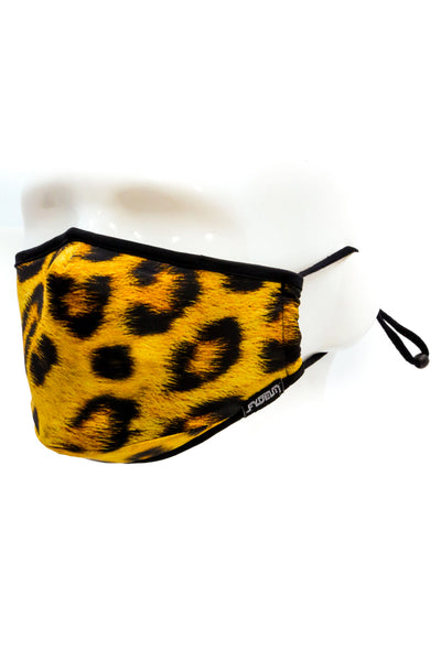 Leopard Face Mask - YLW