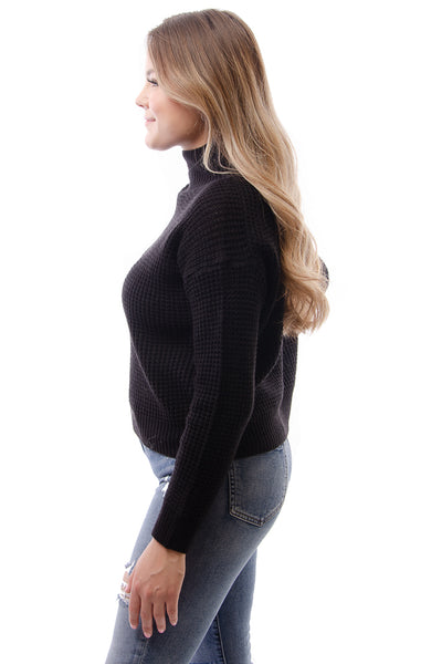 Mock Sweater - BLK