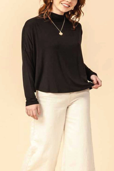 Mockneck Swing Top - BLK