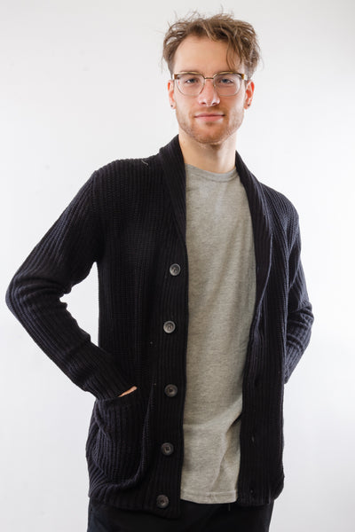Not Your Grandpa's Cardigan - BLK