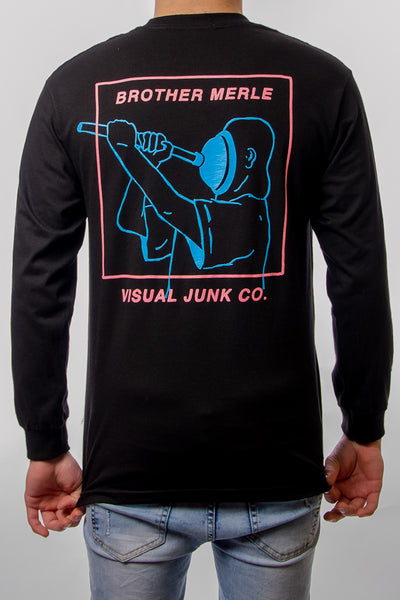 Plunger Long Sleeve - BLK