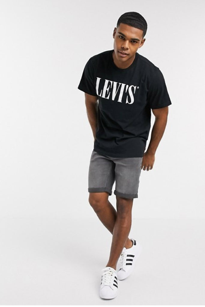 Relaxed Fit Graphic Tee - BLK