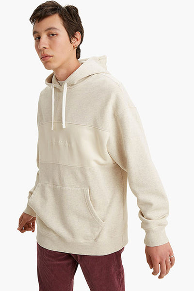 Relaxed Fit Novelty Hoodie - NAT