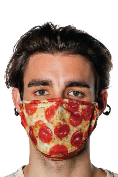 Pizza Pie Face Mask - RED