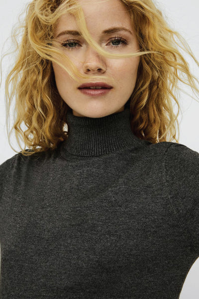 Roll Neck Turtleneck Sweater - DGR