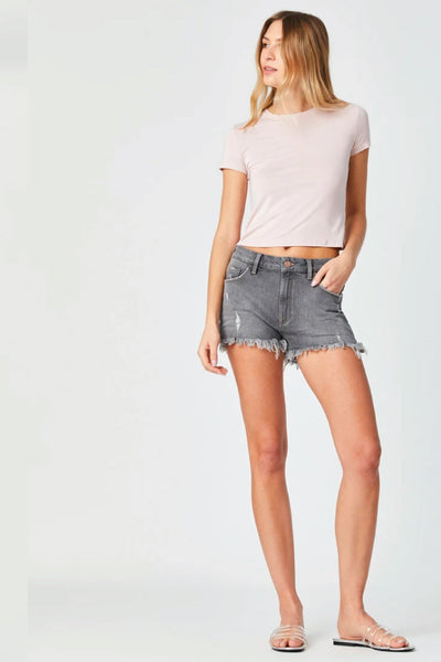 Rosie High Rise Shorts - GRY