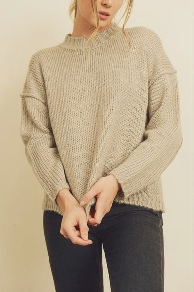 Seamed Boyfriend Sweater - OYS