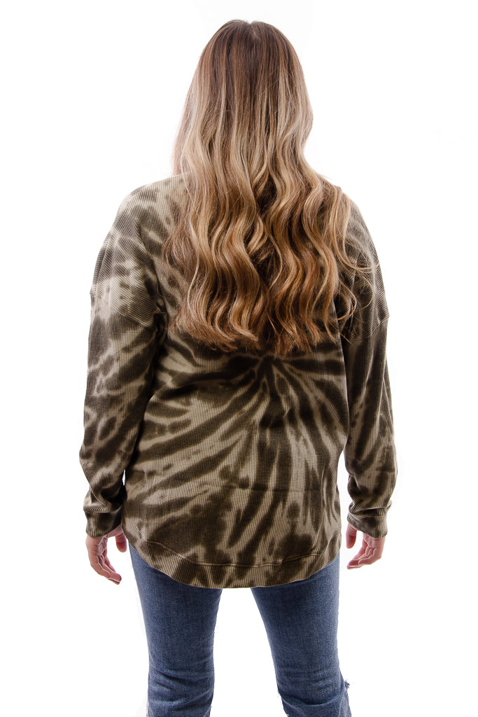 Swirl Dye High Low Lounge Top - FAT