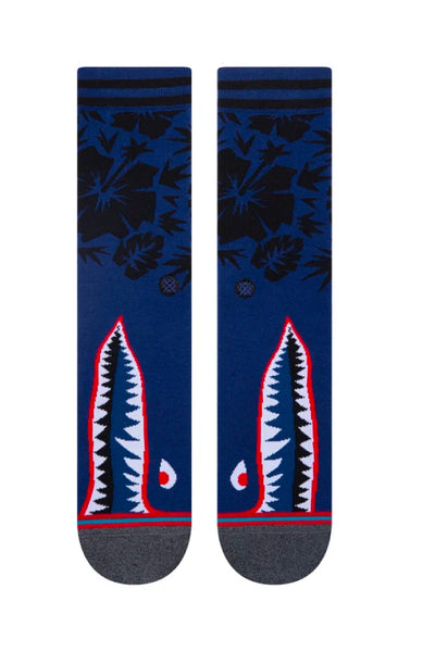 Tropical Warbird Sock - BLU