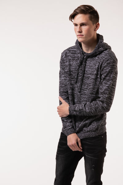 Twisted Hooded Sweater - BLK