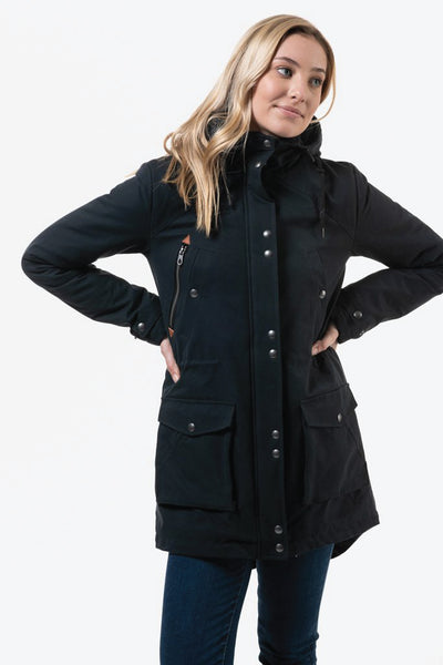 Walk On By Parka - BLK