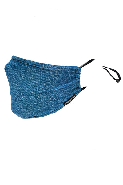 Washed Blue Jean Face Mask - BLU