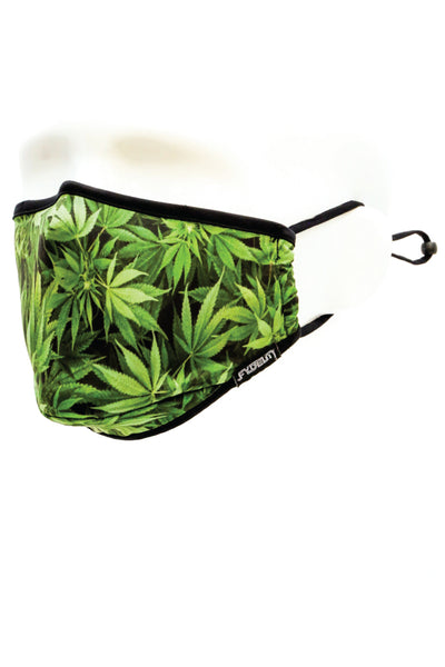 Weed Face Mask - GRN