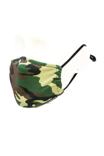 Youth Camo Face Mask - GRN