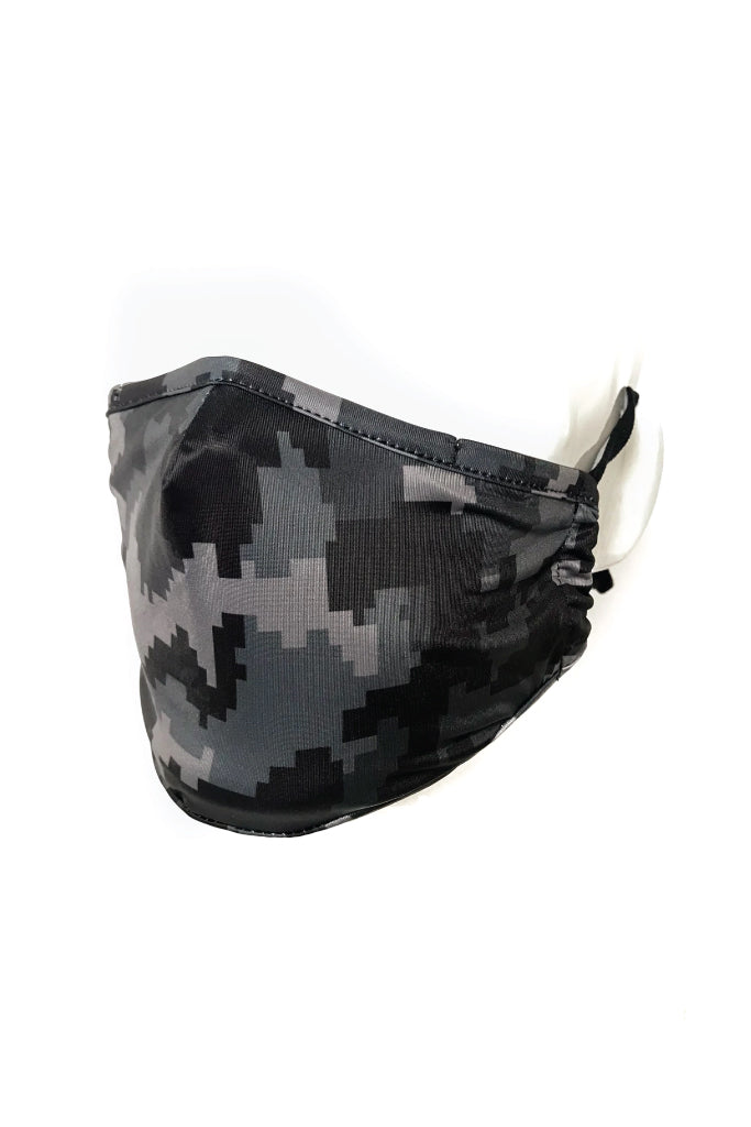 Youth Digital Camo Face Mask - BLK