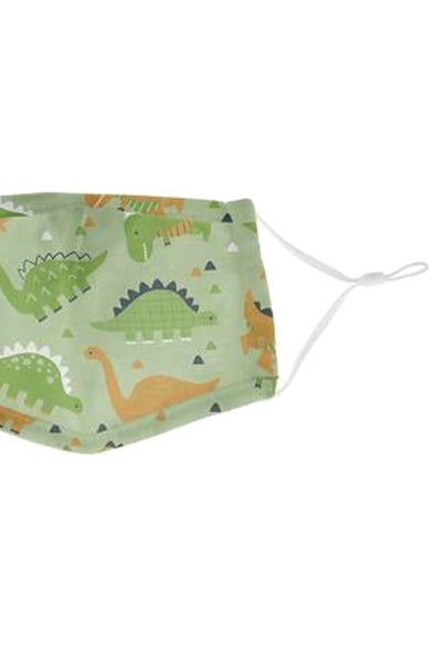 Youth Dino 5 Layer Reusable Face Mask - GRN