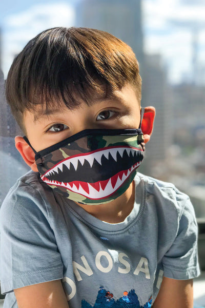 Youth Flying Tiger Face Mask - GRN