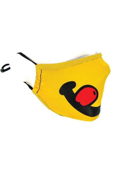 Youth Yellow Smile Face Mask - YEL