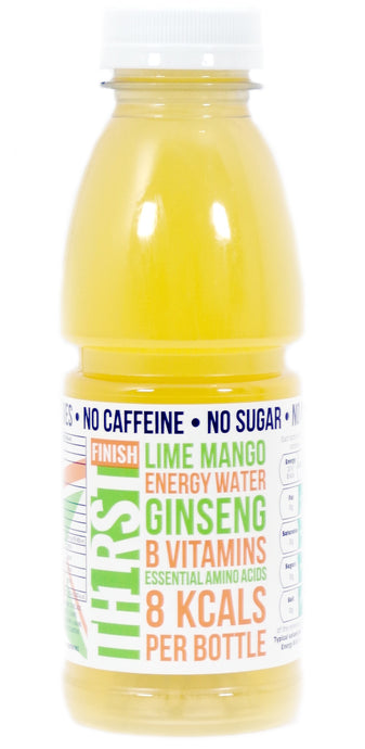 36 x TH1RST LIME MANGO ENERGY WATER WITH GINSENG, AMINO ACIDS & VITAMINS (400ml)