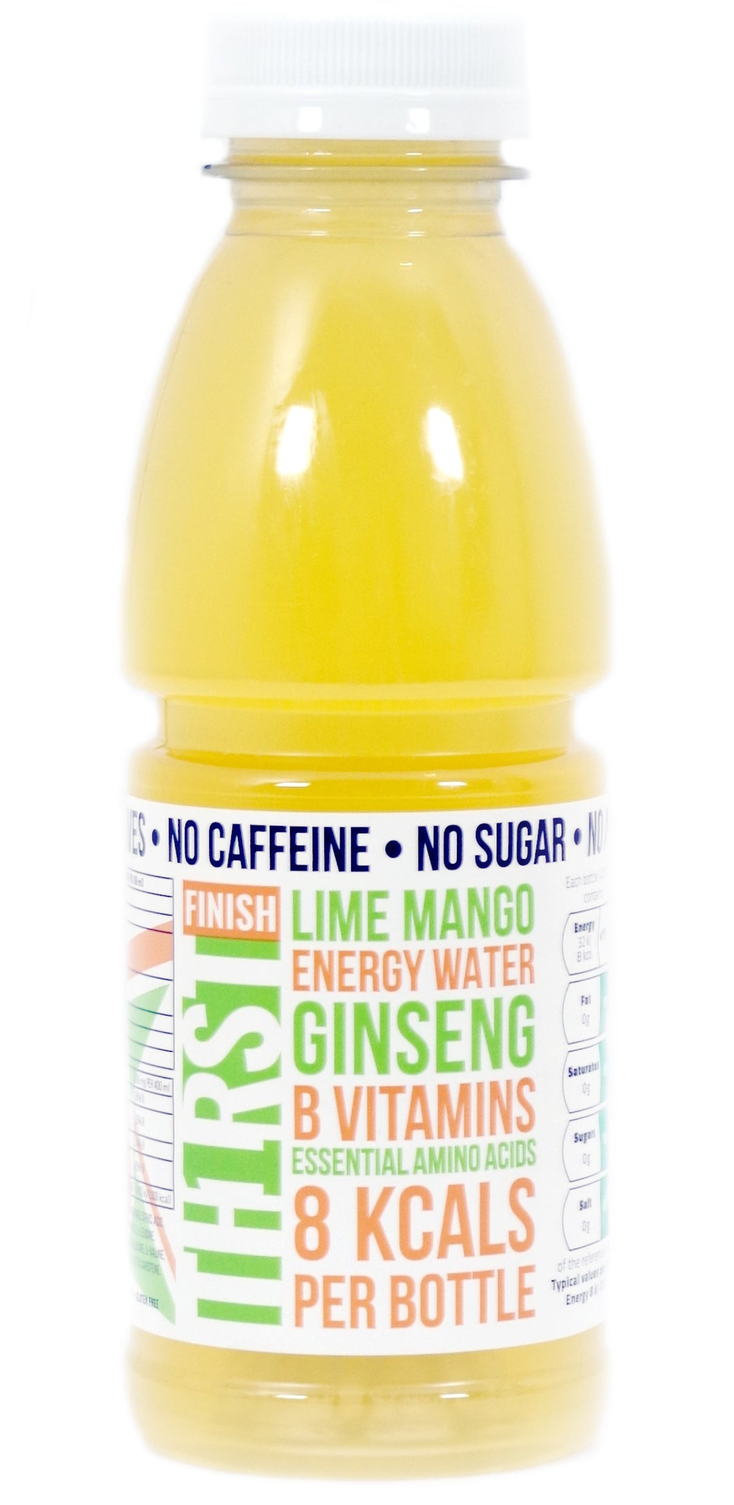 2 x TH1RST LIME MANGO ENERGY WATER WITH GINSENG, AMINO ACIDS & VITAMINS (TASTER) (400ml)