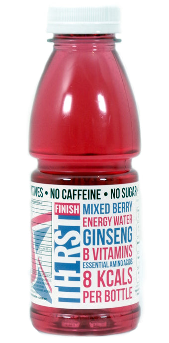60 x TH1RST MIXED BERRY ENERGY WATER WITH GINSENG, AMINO ACIDS & VITAMINS (400ml)