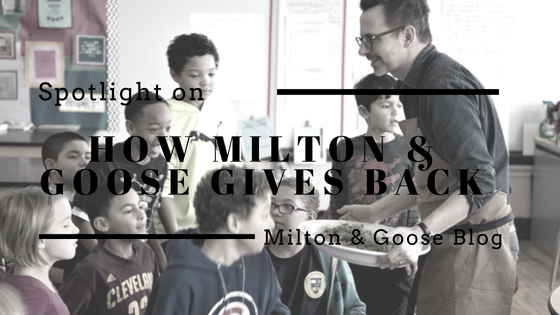 Spotlight on Giving Back at Milton & Goose by Founder Shari Raymond