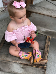 """Sophie"" Sunflower Boots"